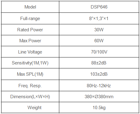 garden speaker specification